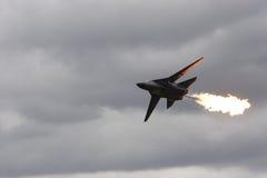 空中喷气式歼击机 免版税库存照片