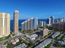 空中图象晴朗的小岛海滩FL 库存图片