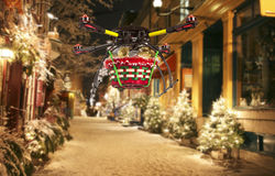 空中圣诞节交付 库存照片