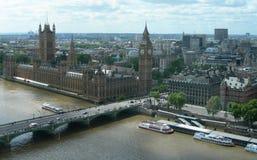 空中地标伦敦英国视图 免版税库存图片