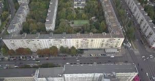 空中城市基辅视图 飞行在现代大厦在日落 都市城市4k 4096 x 2160映象点 影视素材