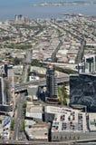 空中城市墨尔本视图 库存图片