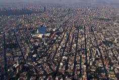 空中城市墨西哥 免版税图库摄影