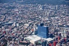 空中城市墨西哥 免版税库存照片