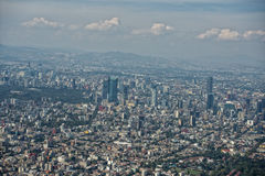 空中城市墨西哥 免版税库存图片