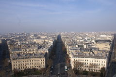 空中城市巴黎视图 库存照片