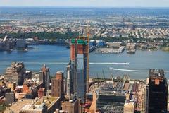 空中城市曼哈顿新的地平线视图约克 库存照片