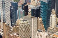 空中城市曼哈顿新的地平线视图约克 库存图片