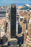 空中城市曼哈顿新的地平线视图约克 免版税库存图片