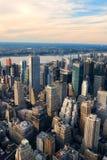 空中城市曼哈顿新的视图约克 图库摄影