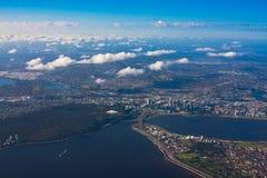 空中城市珀斯照片 免版税库存照片