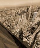 空中城市纽约 免版税图库摄影