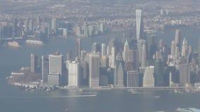 空中城市纽约 股票视频