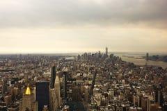 空中城市纽约 库存照片
