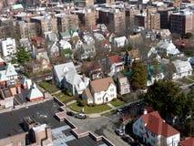 空中城市纽约 免版税库存照片