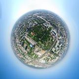 空中城市视图 库存照片