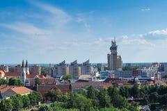 空中城市视图 免版税图库摄影