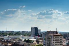空中城市视图 免版税库存照片