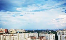 空中城市视图 库存图片