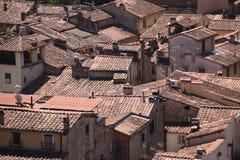 空中城市lucca 免版税图库摄影