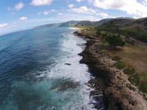 空中夏威夷视图 免版税库存图片