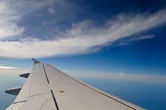 空中多云天空视图 免版税库存照片