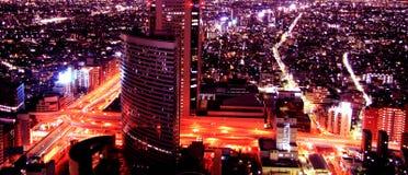 空中夜的视图 库存照片