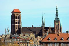 空中大教堂视图 免版税库存照片