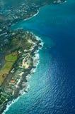 空中大海岛kailua kona射击 图库摄影