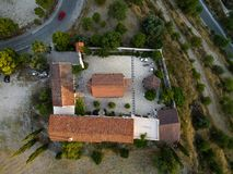 空中天使迈克尔修道院, Monagri 图库摄影
