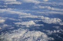 空中天空和云彩 免版税图库摄影