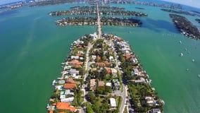 空中威尼斯式海岛迈阿密海滩 影视素材