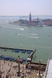 空中威尼斯视图 库存图片