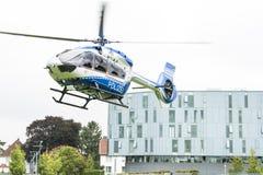 空中客车警察用直升机 免版税库存照片