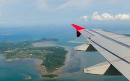 从空中客车370观看 免版税库存图片