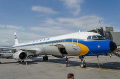 空中客车A321减速火箭的号衣汉莎航空公司 俄国 圣彼德堡 2017年8月10日 库存图片