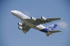 空中客车A380在ILA柏林的演示飞行 库存图片