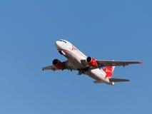 空中客车A319-111客机鞑靼斯坦共和国宣扬 库存图片