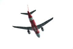 空中客车A320离开 免版税库存照片