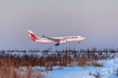 空中客车A330斯里兰卡人航空公司 免版税库存图片