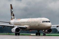空中客车A321新Etihad航空公司 免版税库存图片