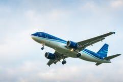 空中客车A320航空公司阿塞拜疆航空公司4K-AZ84  免版税库存图片