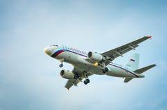 空中客车A319航空公司Rossiya EI-EZC  免版税库存照片