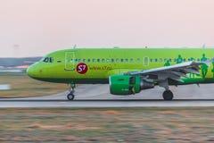 空中客车a319西伯利亚航空公司 库存图片