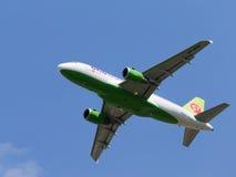 空中客车A-319-114西伯利亚航空公司 免版税图库摄影