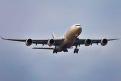 空中客车a340-500酋长管辖区 库存照片