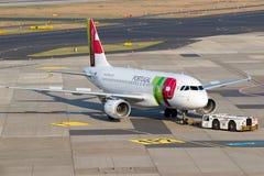 空中客车A319飞机 免版税库存照片