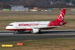 空中客车A-320飞机AtlasGlobal 库存图片