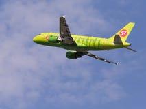 空中客车A319-114,西伯利亚航空公司 免版税图库摄影