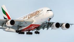 空中客车A380-800 免版税库存图片